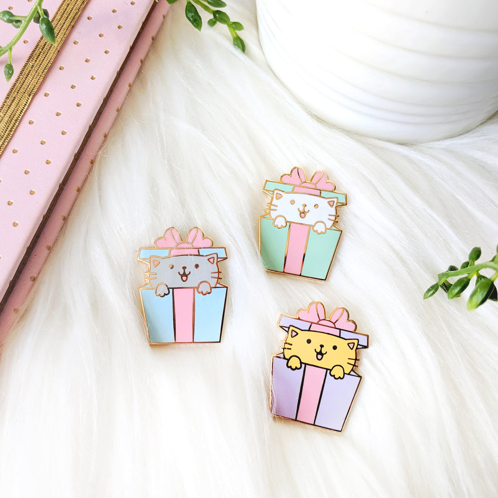 Cat Gifts Enamel Pins (ST0065)