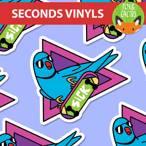 Seconds Quality Vinyl Die Cut Stickers (UP TO 60% OFF)
