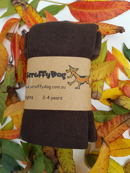 ScruffyDog tights _ Coffee Bean Brown _ flat rate shipping $5.00 for up to 10 pairs
