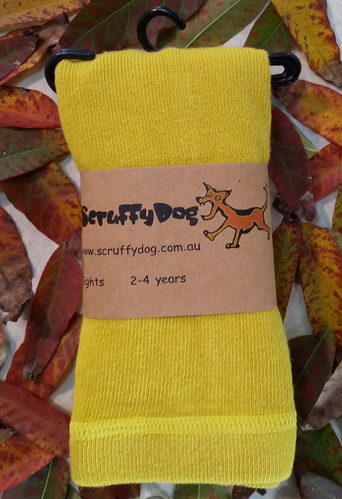 ScruffyDog tights _ Chartreuse _ flat rate shipping $5.00 for up to 10 pairs