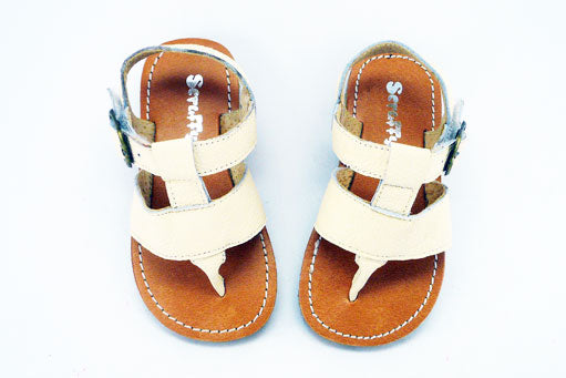 Joey sandals Cream, Flat rate $5.00