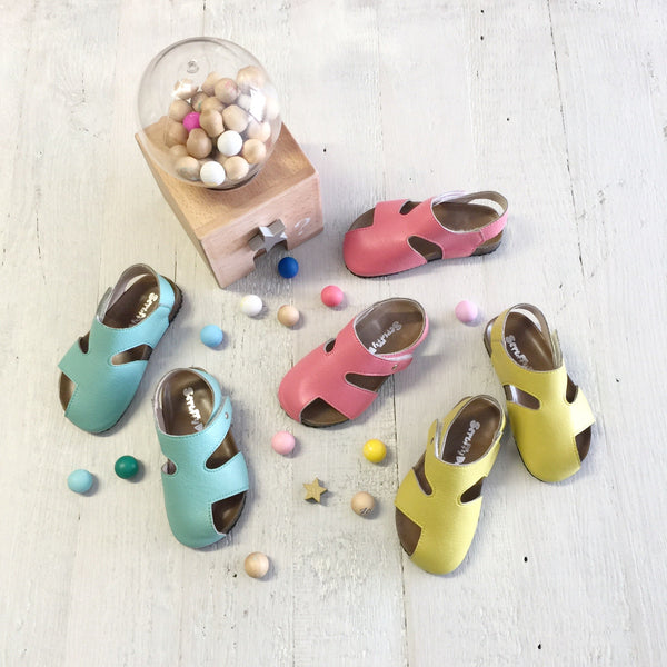 Buddy sandals Cyan, Flat rate $5.00