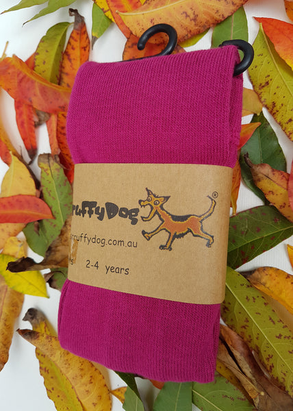 ScruffyDog tights _ Raspberry _ flat rate shipping $5.00 for up to 10 pairs