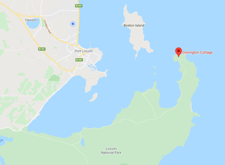 map, Eyre Peninsula, Port Lincoln, Boston Island, Lincoln National Park, Donington Cottage, accommodation, travel, destination, off the beaten track, nature lovers, bird watchers, instagram
