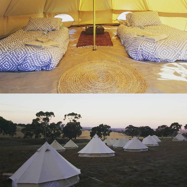 Clare Gourmet - Glamping Package for 2 people (3m Belle Tent) Friday 18th May - Sunday 20th May 2018