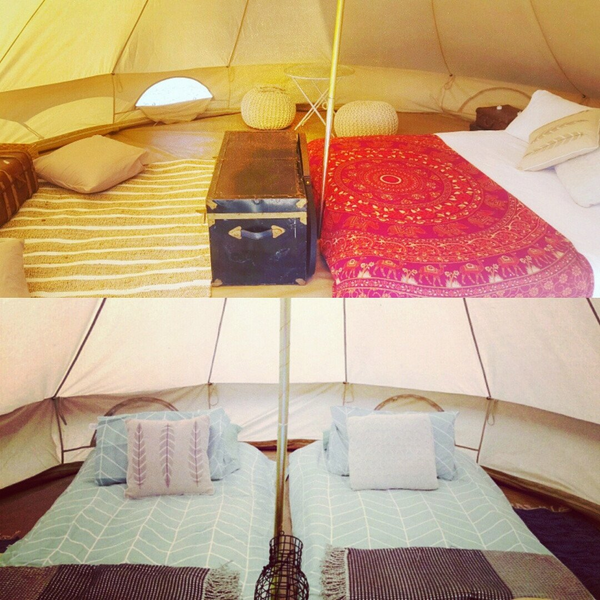 Blenheim Fest Glamping for 4 people from 29th -31st March 2018