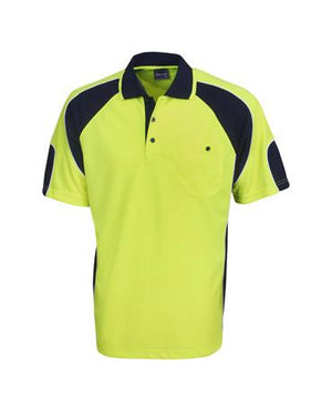 Hi Vis Cooldry Side Panel Polo Shirt
