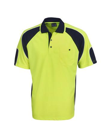 Hi Vis Cooldry Side Panel Polo | Workwear