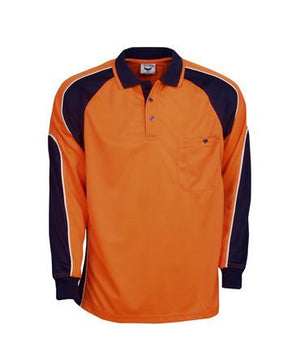L/S Hi Vis Cooldry Side Panel Polo Shirt