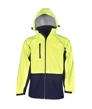 Hi Vis Hooded Soft Shell Jacket | Workwear