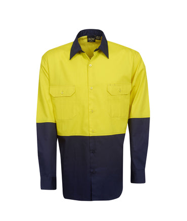 Hi Vis Cotton Twill Shirt | Workwear
