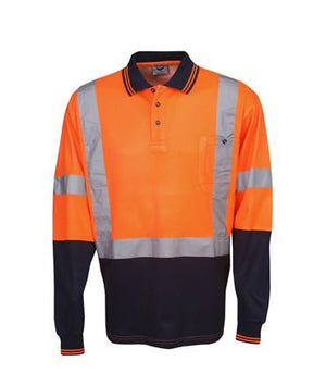 L/S D/N Cotton Back Hi-Vis Polo Shirt