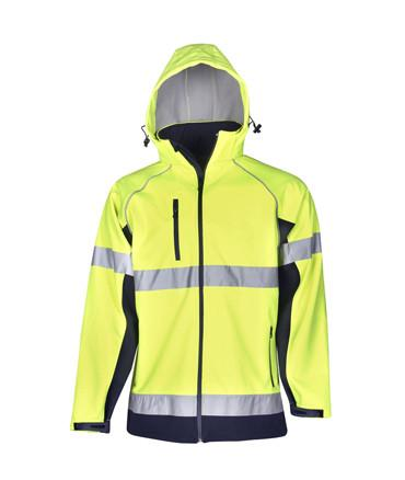 Hi Vis Hooded Day Night Soft Shell Jacket | Workwear