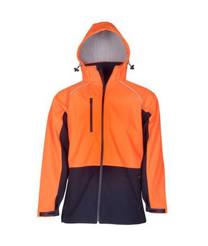 Hooded Hi Vis Soft Shell Jacket
