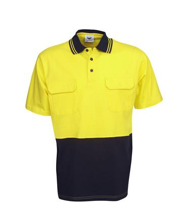 Hi Vis Cotton Polo | Workwear