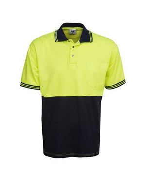 Cotton Back Hi Vis Polo Shirt