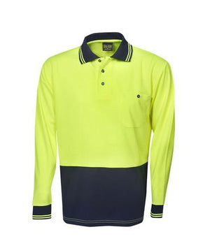 Hi Vis L/S Light Weight Cooldry Polo Shirt