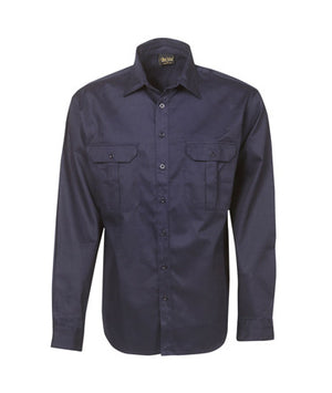 Long Sleeve Cotton Drill Work Shirt | Workwear