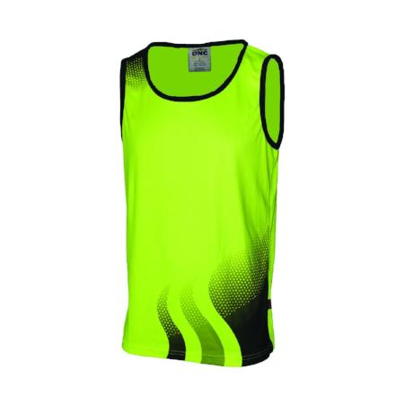 HI VIS Wave Sublimated Singlet
