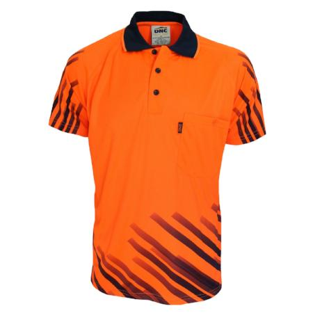 Hi Vis Sublimated Full Stripe Polo Shirt