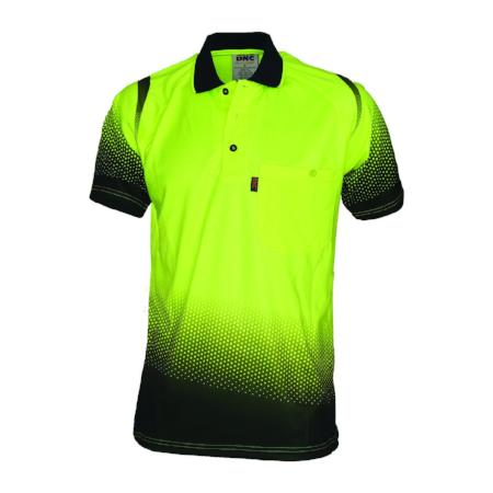 HI VIS Sublimated Ocean Polo Shirt