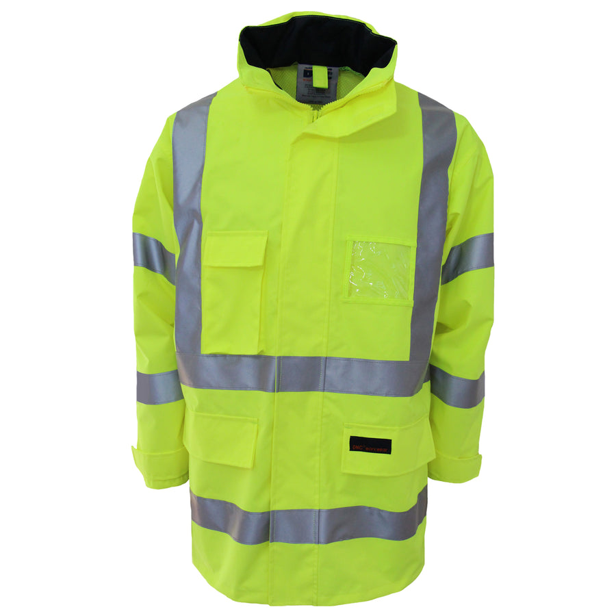 Hi Vis Breathable Rain Jacket Biomotion tape