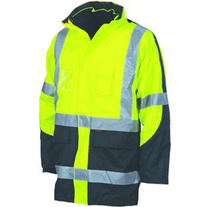 "DNC Hi-Vis Cross Back 2 Tone D/N ""6 in 1"" Contrast Jacket"