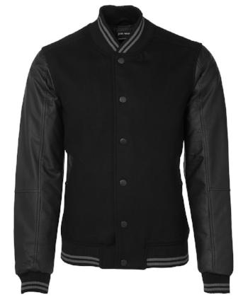 Art Leather Baseball Jacket | Outerwear