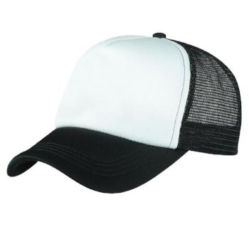 4055 Foam Mesh Trucker in Black/White