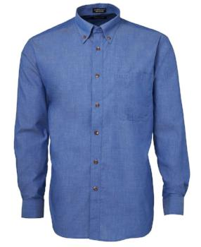 Long Sleeve Indigo Chambray Shirt | Corporate Wear