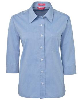 Womens 3/4 Sleeve Fine Chambray Shirt | Corporate Wear