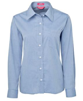 Womens Long Sleeve Fine Chambray Shirt | Corporate Wear