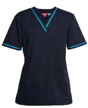Womens Contrast Scrubs Top | Nursing Uniforms