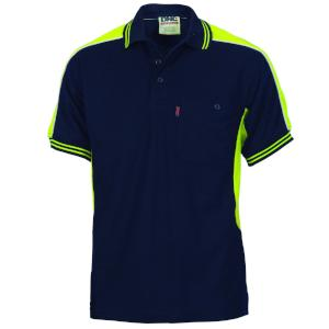 DNC S/S Poly-Cotton Panel Polo Shirt