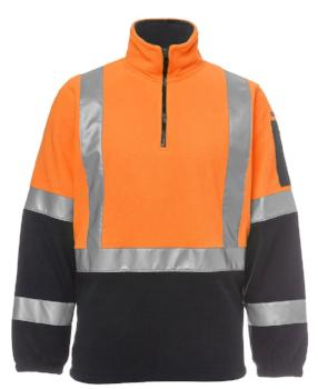 Hi Vis (D+N) H Pattern Biomotion 1/2 Zip Polar Fleece | Workwear