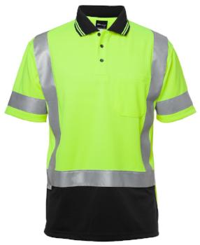 "Hi Vis S/S D+N ""H"" Pattern Polo 