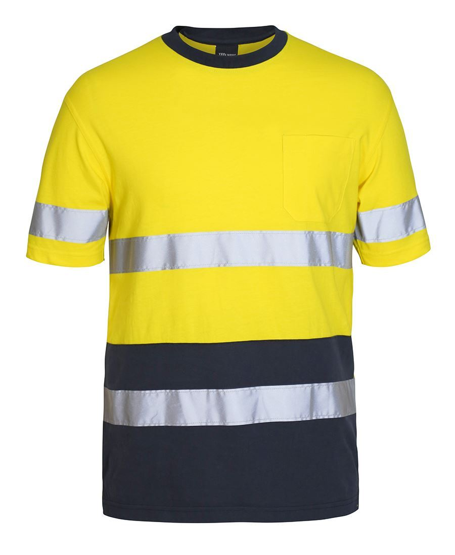 Hi Vis Cotton T Shirt With Tape | Workwear