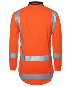 Hi Vis Long Sleeve Day Night Tail Polo | Workwear
