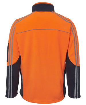Clearance JBs Hi Vis Arm Tape Polar Fleece Jumper