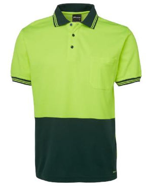 Hi Vis Cotton Back Polo | Workwear