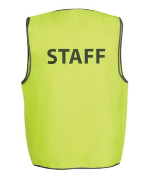 "Hi Vis Safety Vest ""Staff"" 