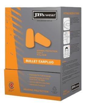 Bullet Shaped Ear Plugs (200 Pairs) | PPE