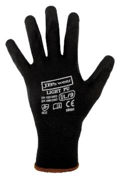 Black Light PU Breathable Gloves (12 Pack) | PPE