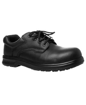 Microfibre Lace Up Steel Toe Shoes | Work Shoes