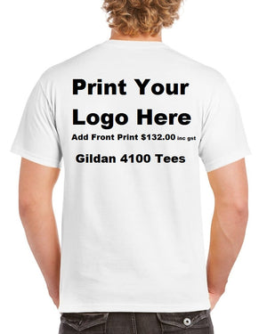 30 Pack - Gildan 4100 Includes Back Print. New style