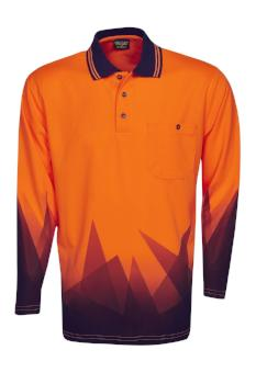 Hi Vis Long Sleeve Triangular Polo | Workwear