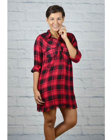 Fall For You Plaid Tunic