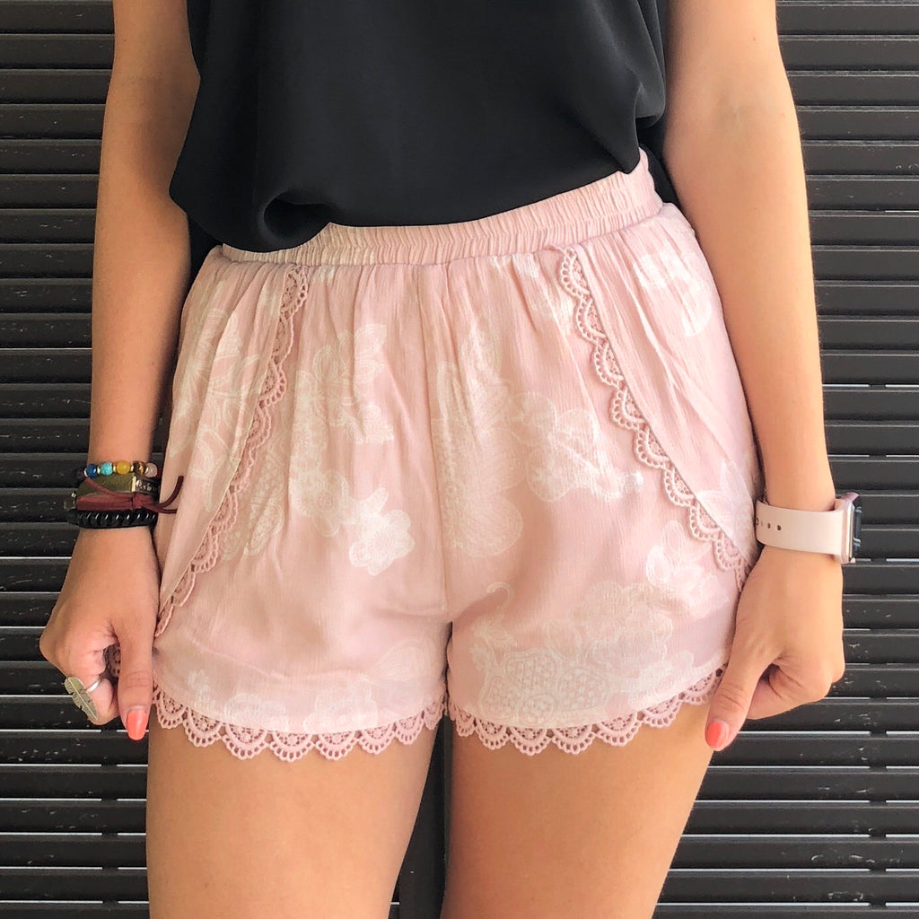 Resort & Cocktail Shorts-Blush