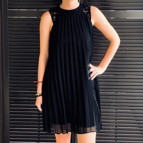 Night Falls Pleated Dress