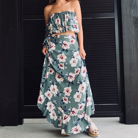 Wisteria Lane Wrap Maxi Skirt